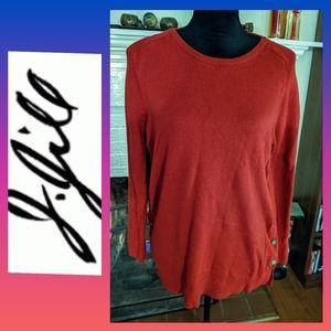 J. Jill brick red sweater tunic